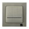 Łącznik jednobiegunowy z podświetleniem ŁP-1RMS/44 seria Sonata nowe srebro OSPEL