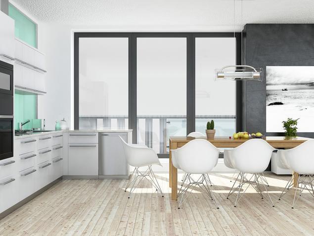 Zobacz galerię zdjęć Skandynawskie wnętrza  kuchnia z   -> Urządzanie Kuchni Z Jadalnią