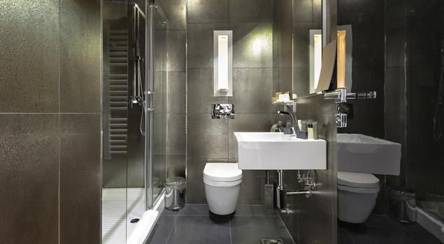 pomys na azienk w szarym kolorze. Black Bedroom Furniture Sets. Home Design Ideas
