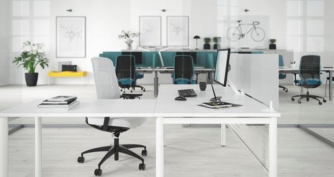 Funkcjonalne meble biurowe. Nowoczesne stoły NANO